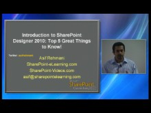 Introduction to SharePoint Designer 2010: Top 5 great Things to Know