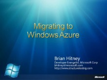 Azure Miniseries #1:  Migration