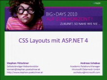 BigDays 2010 DevTrack 2 Session 2: CSS Layouts und ASP.NET 4