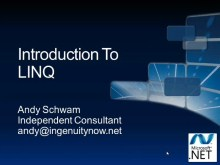 All Data/All Day Dive into .NET Data Access (Part 1 of 6): Introduction to LINQ
