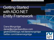 All Data/All Day Dive into .NET Data Access (Part 4 of 6): Getting Started with ADO.NET Entity Framework