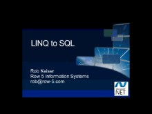 All Data/All Day Dive into .NET Data Access (Part 2 of 6): A Closer Look at LINQ to SQL