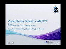 VSIP Partners CAN DO! | Oracle Developer Tools for Visual Studio