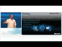 What's new in Silverlight 4 Part 1 by Mike Taulty