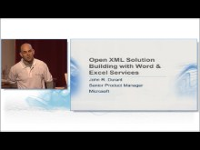 Open XML Solution Building with Word and Excel Services by John Durant