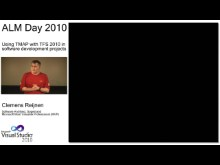 ALMday session 3 - Using TMAP with TFS 2010 in software development projects