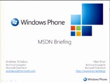 MSDN Briefing Windows Phone Development - Teil 1