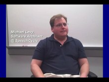 Gunther Lenz, Microsoft, chats with Michael Levy, SpeechCycle