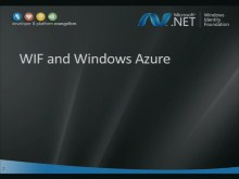 WIF Workshop 9: WIF and Windows Azure