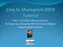 LINQ to Sharepoint 2010 - Part 7