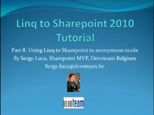 LINQ to Sharepoint 2010 - Part 8