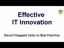 ARCast.TV - David Chappell on Effective IT Innovation