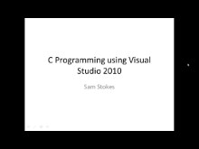 C-Language Programming with Visual Studio 2010 Ultimate, Pro or VC++ Express