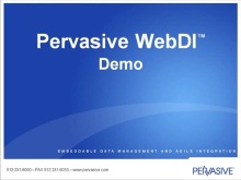 Pervasive adopts Windows Azure platform for Pervasive BusinessXchange WebDI