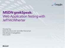 geekSpeak Recording - Web Application Testing with Jeff McWherter