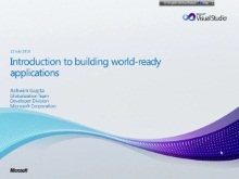 WR Series: Introduction to developing World Ready Applications