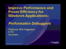 MSDN Webcast: Acumem software improves performance and power efficiency for Windows applications in just minutes
