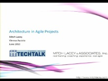 SACVIE 2010: Architecture in Agile Projects – How-to get it done right