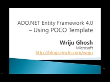 POCO Template in ADO.NET Entity Framework
