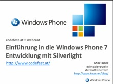 Windows Phone 7: Silverlight auf Windows Phone 7 - Überblick