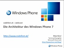 Windows Phone 7: Architektur