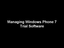 Managing Windows Phone 7 Trial Applications