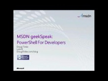geekSpeak Recording - PowerShell for .NET Developers with Doug Finke