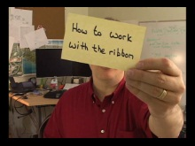Office Casual - How to work with the ribbon