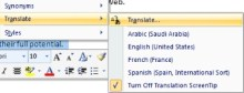 Add Translation Capabilities to Office
