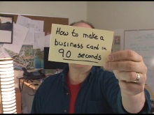 Office Casual:  Business Cards in 90 seconds