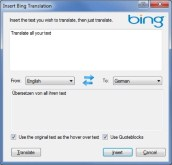 Bing Translation Plugin for Windows Live Writer