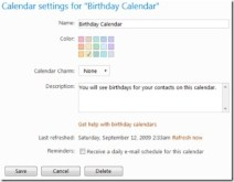 Windows Live Calendar Updated, Now Syncs Birthdays