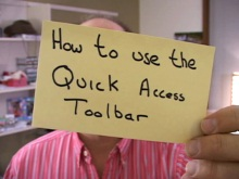 Office Casual - The Quick Access Toolbar