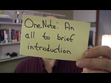 Office Casual: OneNote - An all too brief introduction