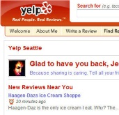 Yelp provides local reviews by and for the people