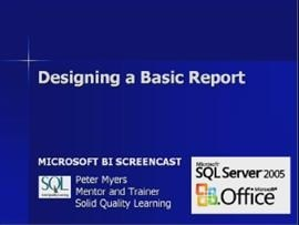Business Intelligence #05a: Designing a Basic Report