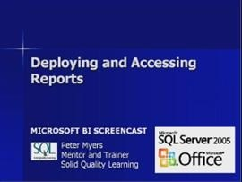 Business Intelligence #07a: Deploying and Accessing Reports