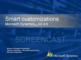 Dynamics AX 4.0 - Smart customizations