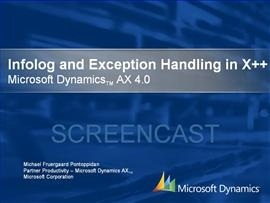 Exception handling in X++