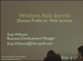 Windows Rally Technologies Seminar: Devices Profile for Web Services