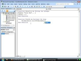 VBA interop with VSTO managed code in VS 2008