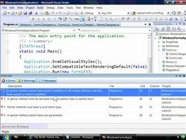 Partial Methods in C# v3 and VB9