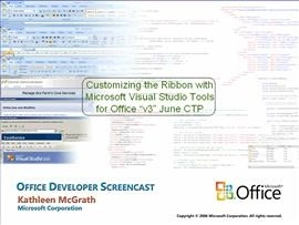 "Customizing the Ribbon with Microsoft VSTO ""v3"" June CTP"