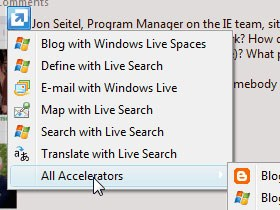 Customizing Accelerator Categories in Internet Explorer 8