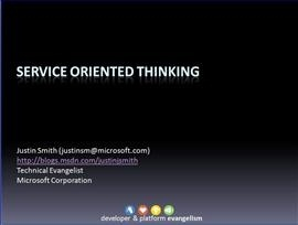 Service Oriented Thinking