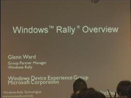 Windows Rally Technologies Seminar: Windows Rally Overview