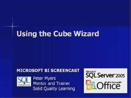 Business Intelligence #09c: Using the Cube Wizard