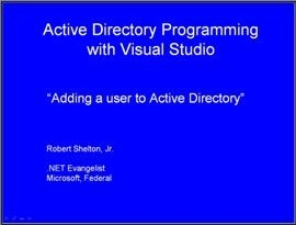 Adding users to Active Directory with .NET