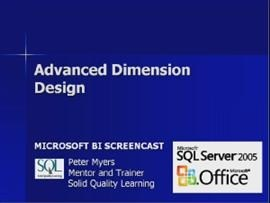 Business Intelligence #09b: Advanced Dimension Design