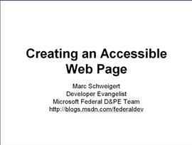 Creating an Accessible Web Page